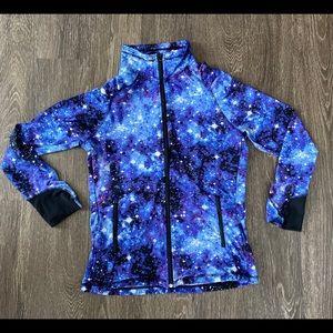 Galaxy Zip Up Workout Jacket